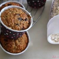 Muffin bananes & flocons d'avoine {sans beurre}