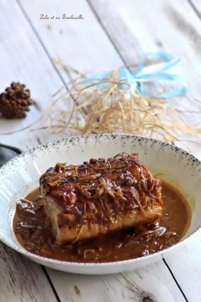 Rôti de porc au miel & oignons (2)