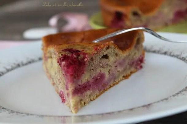 Gâteau au mascarpone & framboises