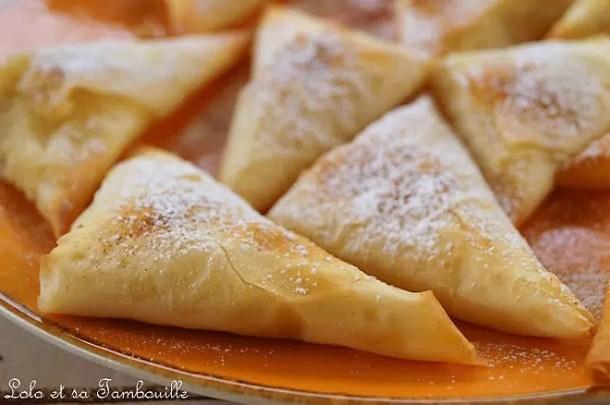 Bougatsa {ou pita à la crème vanillée}