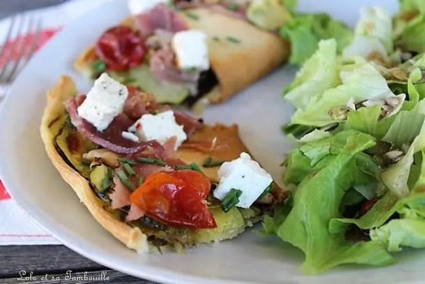 Tarte étoilée aux légumes & feta