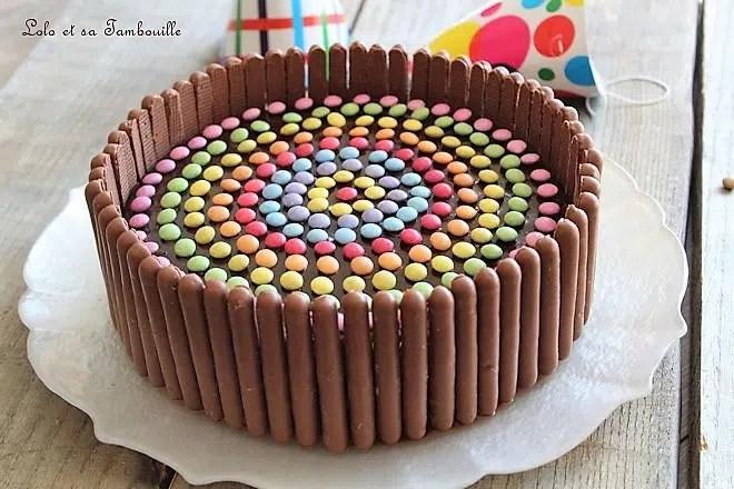 Gateau D Anniversaire Au Chocolat Smarties Lolo Et Sa Tambouille
