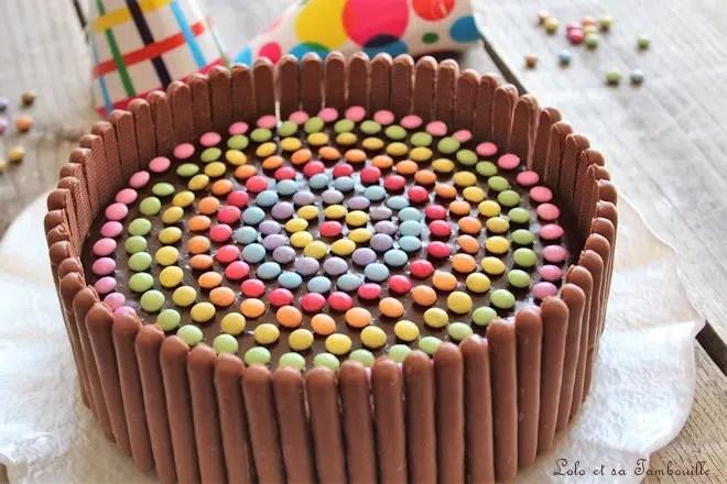 Gateau D Anniversaire Au Chocolat Smarties Lolo Et Sa