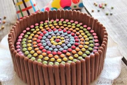 Gâteau d'anniversaire au chocolat & smarties (6)