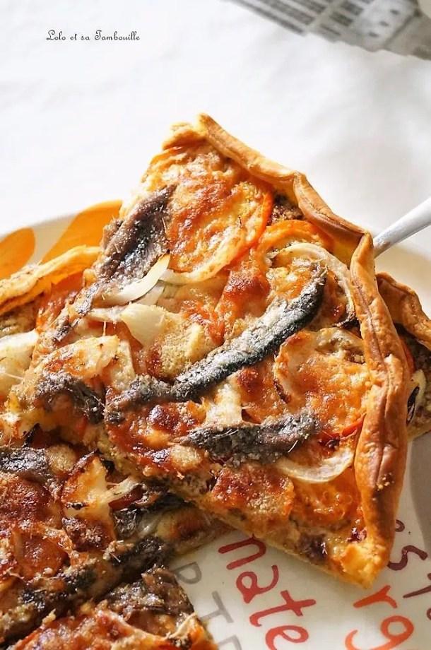 Tarte aux anchois & tomates