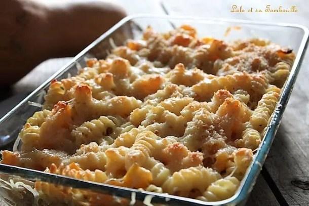Gratin de pâtes butternut & comté
