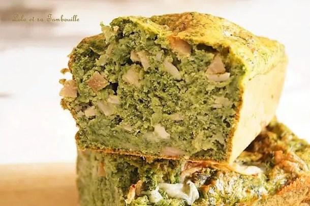 Cake aux épinards & chèvre