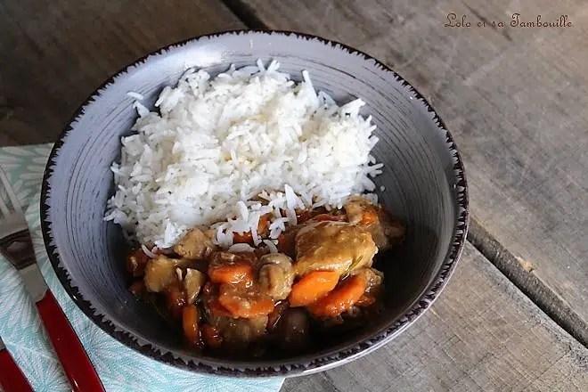 Sauté de veau aux champignons & carottes Lolo et sa Tambouille