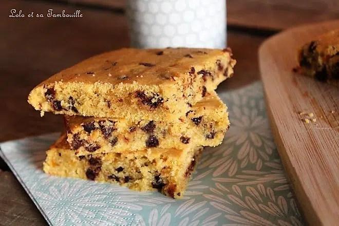 Carrés au butternut & pépites de chocolat