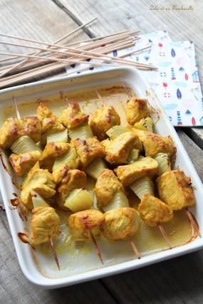 Brochettes de dinde aux épices (3)