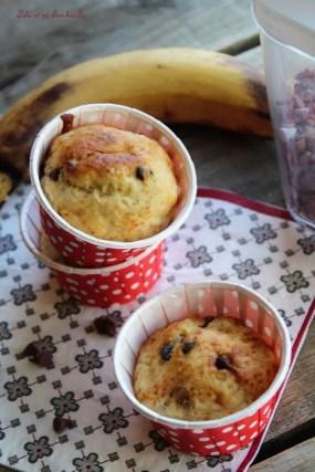 Muffins aux bananes & pépites de chocolat {allégés} (7)