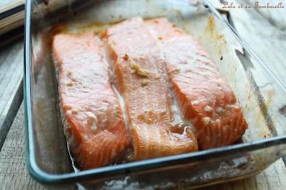 Saumon glacé au sirop d'érable (1)