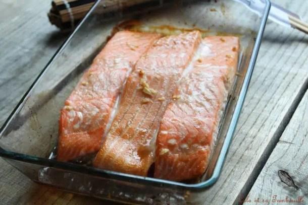Saumon glacé au sirop d'érable
