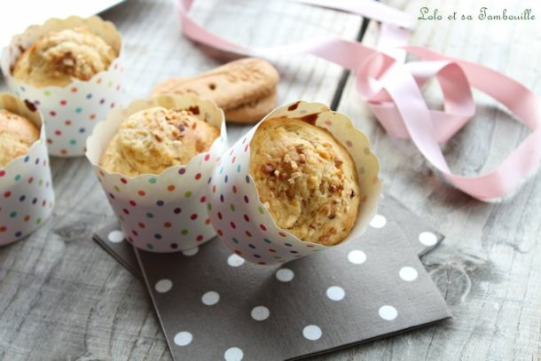 Muffins aux petits suisses & spéculoos
