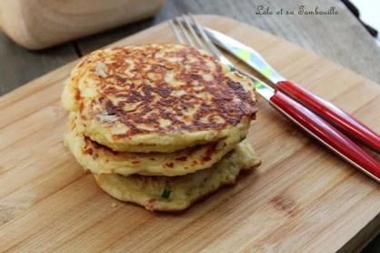 Pancakes au lait ribot {bacon & comté] (3)