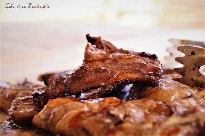 Marinade au vin rouge {côtes de porc & d'agneau}