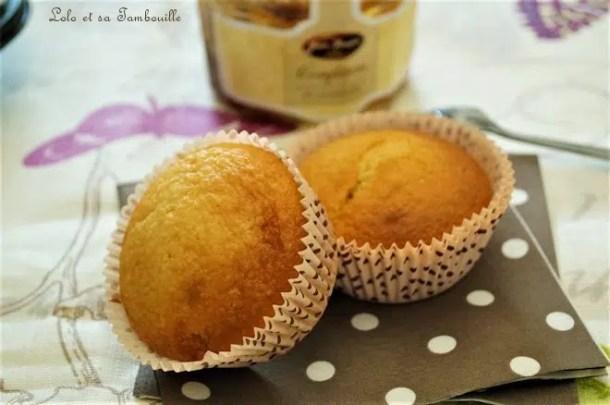 Muffins à la confiture de mirabelles {sans beurre}