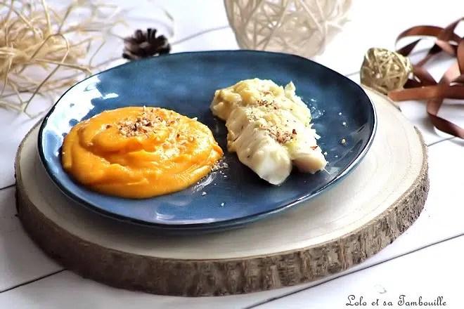 Dos de cabillaud au pecorino truffé & purée de butternut