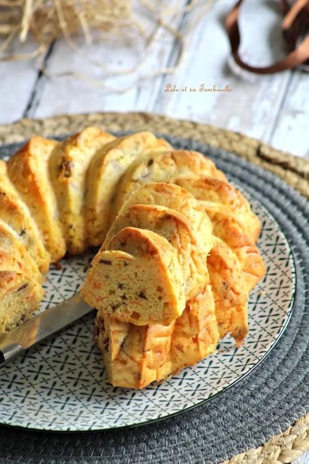 Cake aux carottes & magret de canard séché