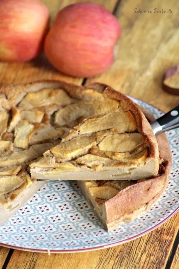Clafoutis au lait de noisettes & pommes