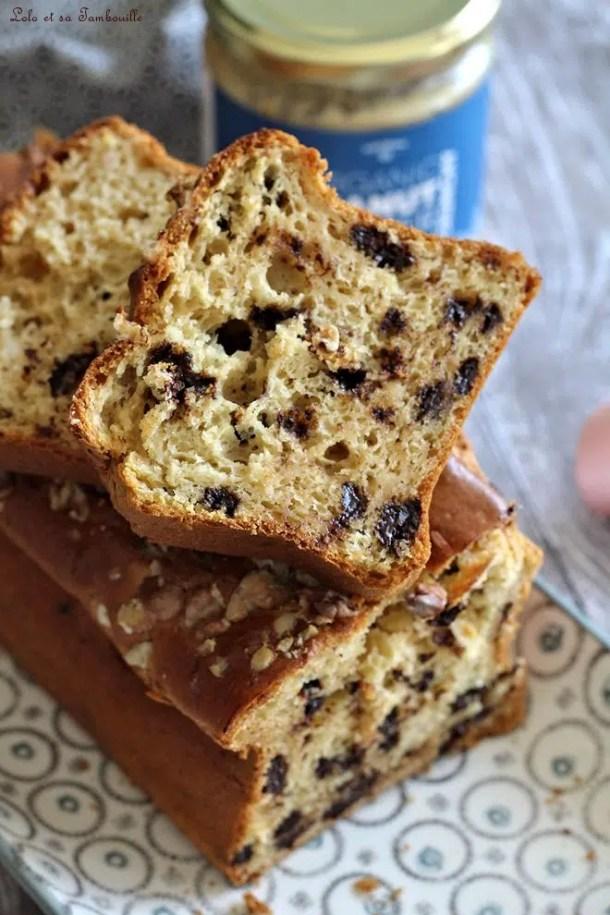 Cake au beurre de cacahuètes & pépites de chocolat