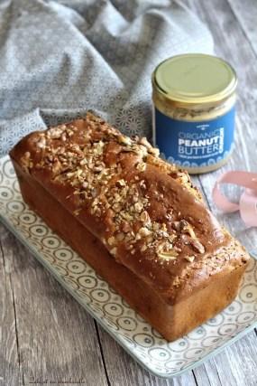 Cake au beurre de cacahuètes & pépites de chocolat (2)