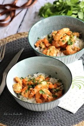 Crevettes sautées au citron vert & coriandre (4)