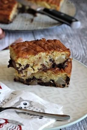 Gâteau moelleux aux poires & pépites de chocolat (1)
