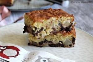 Gâteau moelleux poires