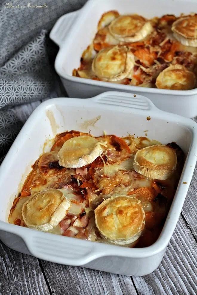 Gratin de patate douce & chèvre