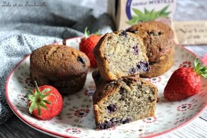 Muffins aux myrtilles {aux blancs d'oeufs} (6)