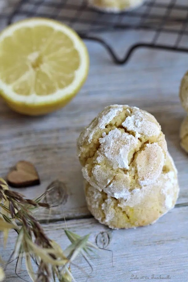 Biscuits craquelés au citron
