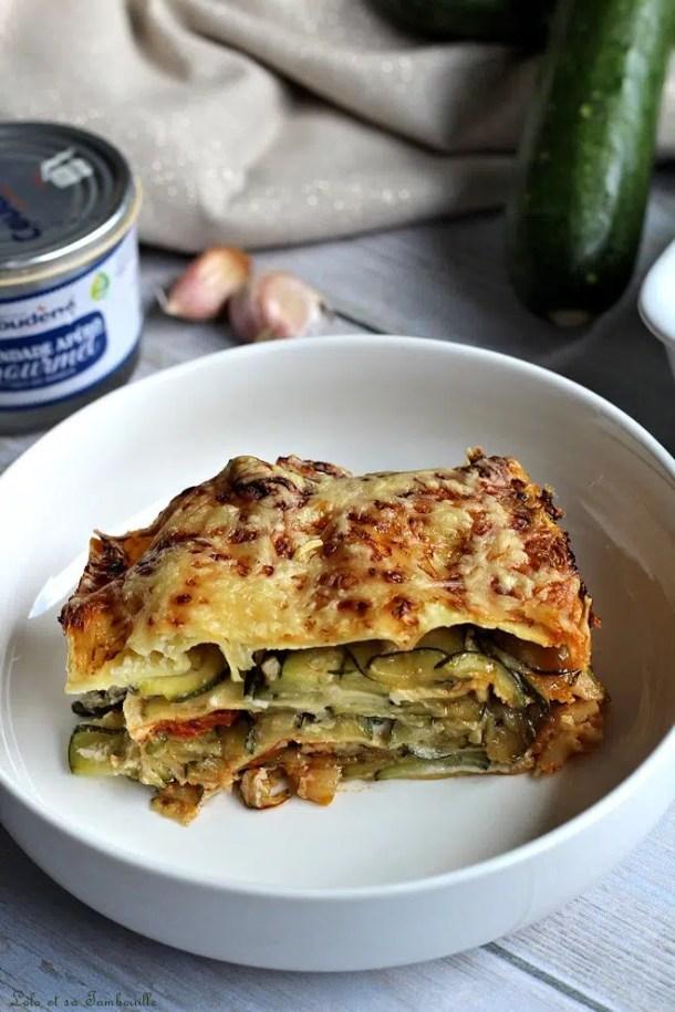 Lasagnes aux courgettes & brandade