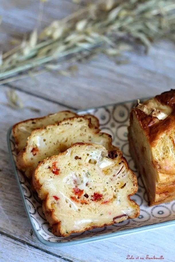 Cake au chèvre & poivrons grillés