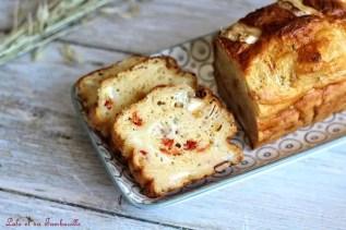 Cake au chèvre & poivrons grillés (4)