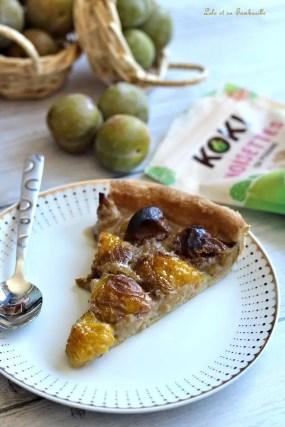 Tarte aux prunes & crème de noisettes (4)