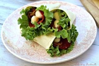 Wraps pocket chorizo & légumes grillés (6)
