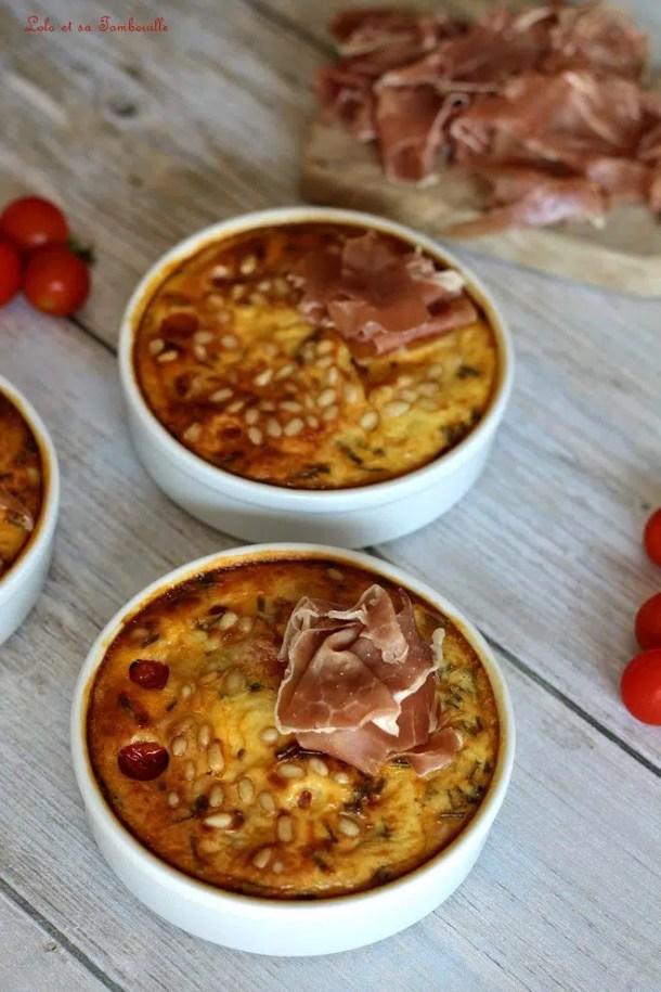 Clafoutis tomates cerises & chèvre frais