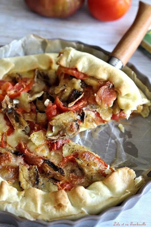 Tarte aux sardines & tomates