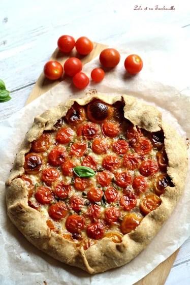 Tarte rustique aux tomates cerises (5)