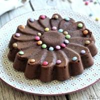 Moelleux chocolat & bananes {sans beurre, sans sucre, sans farine}