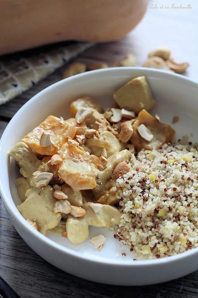 Curry de poulet à la butternut & lait de coco