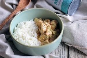 Curry saumon lait de coco