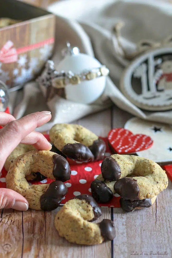 Demi lunes aux noisettes & chocolat