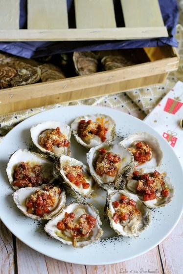 Huîtres gratinées au chorizo & parmesan (3)