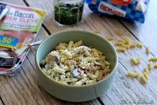 Pâtes au bacon & champignons (3)