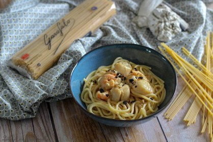 Spaghettones Saint Jacques & truffes (5)
