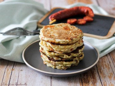 Pancakes au chorizo & poireaux (2)