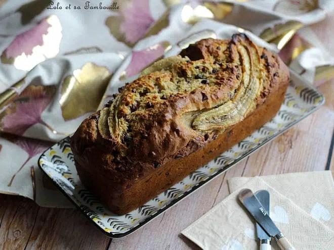 Banana bread amande chocolat,banana bread recette,banana bread sans beurre,banana bread moelleux,banana bread amande et chocolat