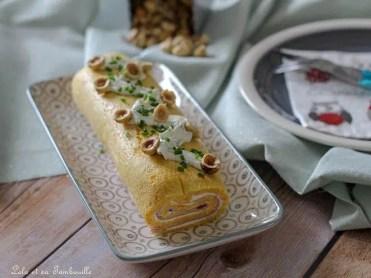 Roulé de butternut au fromage frais & jambon (1)